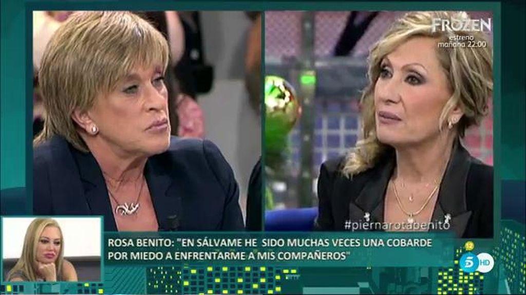 """Rosa Benito, a Chelo García Cortés: """"Fuiste muy traidora y ya no confío en ti"""""""