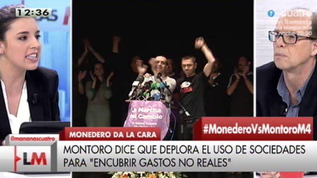 """Irene Montero (Podemos): """"Estamos a la vanguardia en transparencia"""""""
