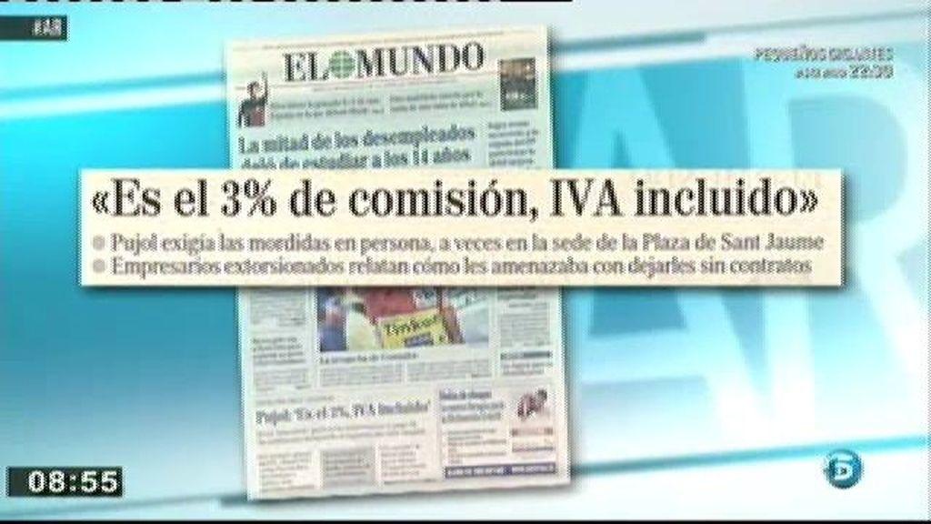 Pujol pedía el pago de las comisiones incluyendo el IVA, según 'El Mundo'