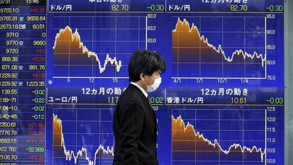 El índice Nikkei de la Bolsa de Tokio subió hoy en la apertura 86,42 puntos, el 0,89 por ciento, hasta 9.794,81 puntos. EFE/Archivo