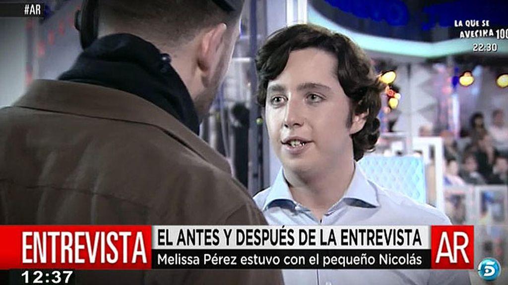 El backstage de la entrevista al 'Pequeño Nicolás' en 'Un tiempo nuevo'