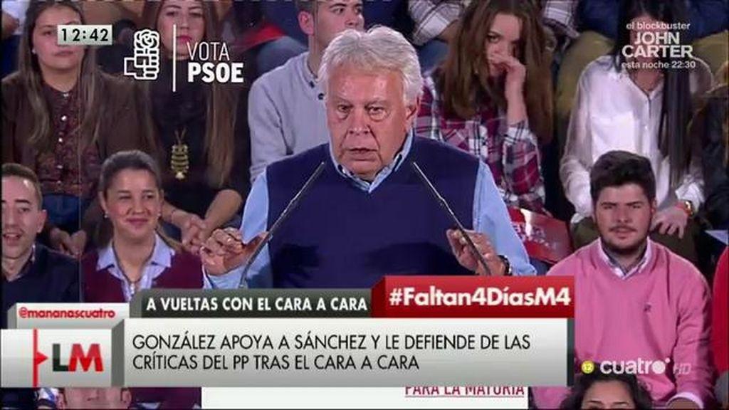 """Felipe González: """"Tienen la piel muy sensible, llevo 50 años y me han dicho de todo"""""""
