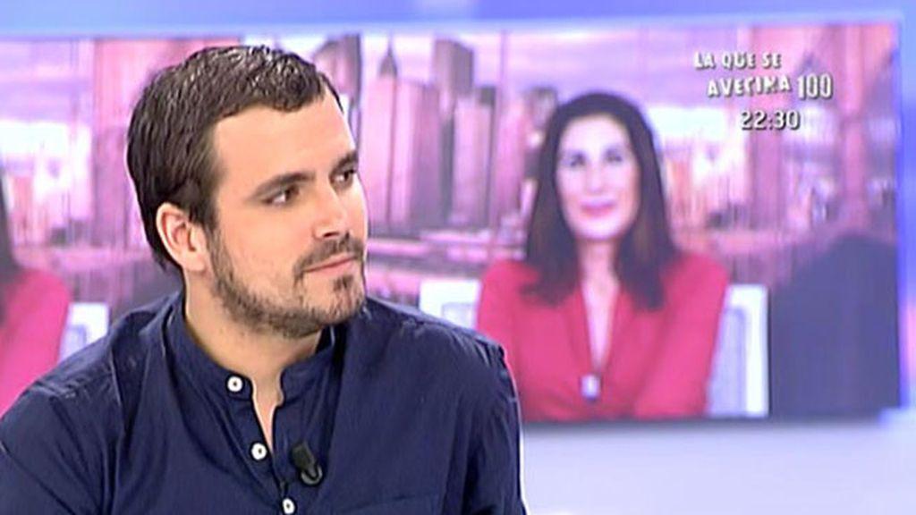 """Alberto Garzón, sobre el pacto con Podemos:  """"Nosotros somos partidarios del espacio unitario"""""""