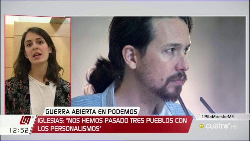 Rita Maestre apoya el cambio en Podemos propuesto por Pablo Iglesias