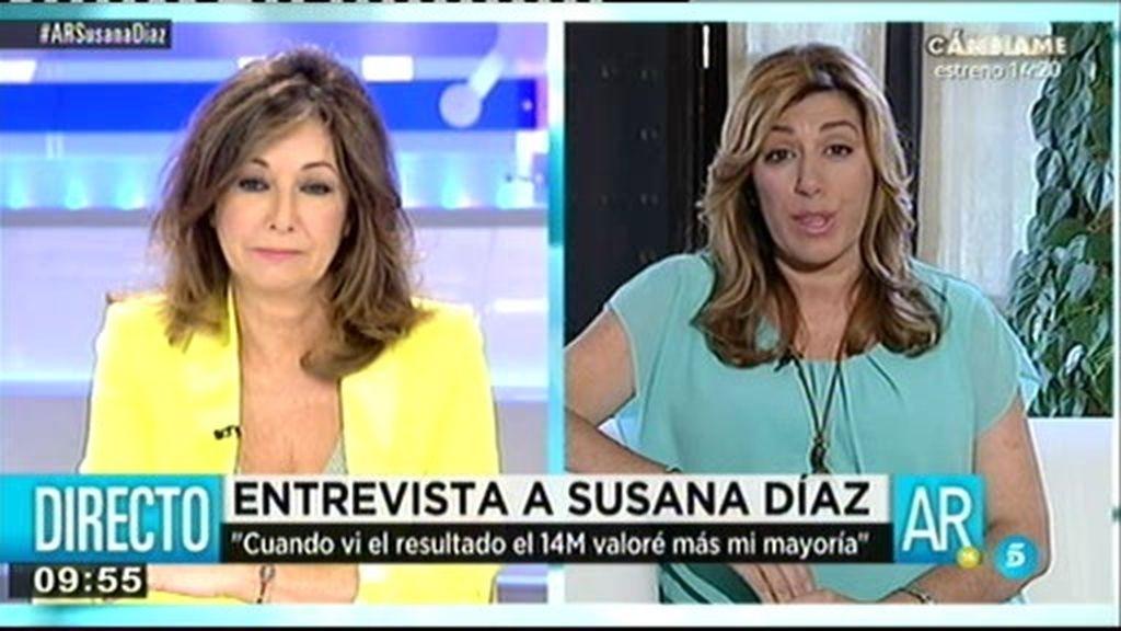 """Susana Díaz: """"Voy a ser generosa con todos los alcaldes, independientemente del color que sean"""""""