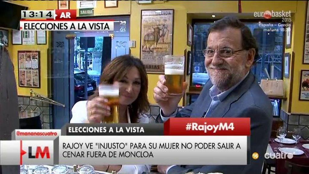 'Workbook', cañas, su perro Rico... Así han sido las 24 horas de Rajoy con AR