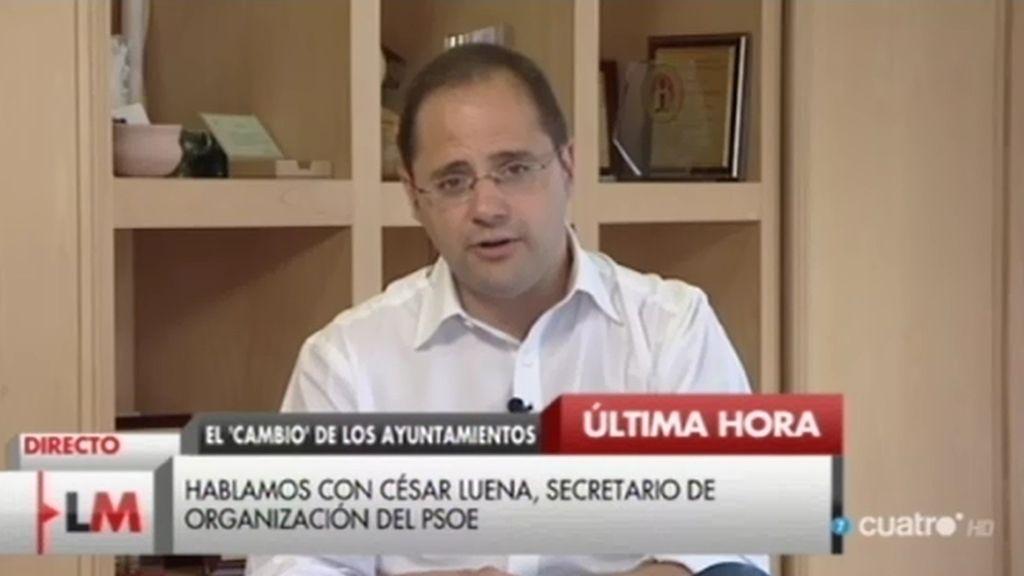 César Luena (PSOE) aclara la decisión de última hora en el País Vasco