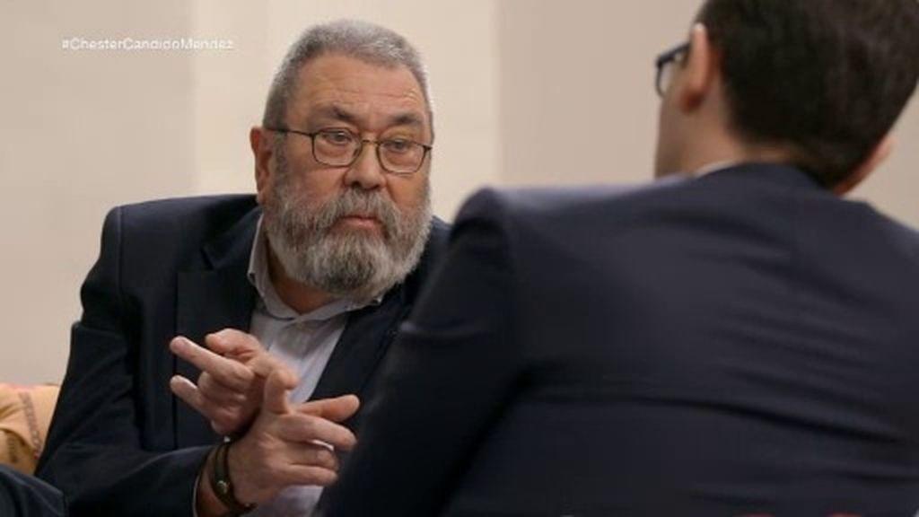 """Cándido Méndez, rotundo: """"No ha habido facturas falsas en los cursos de formación"""""""