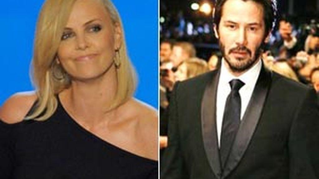 Charlize Theron y Keanu Reeves, a punto de confirmar públicamente su relación. Fotos. AP / Archivo