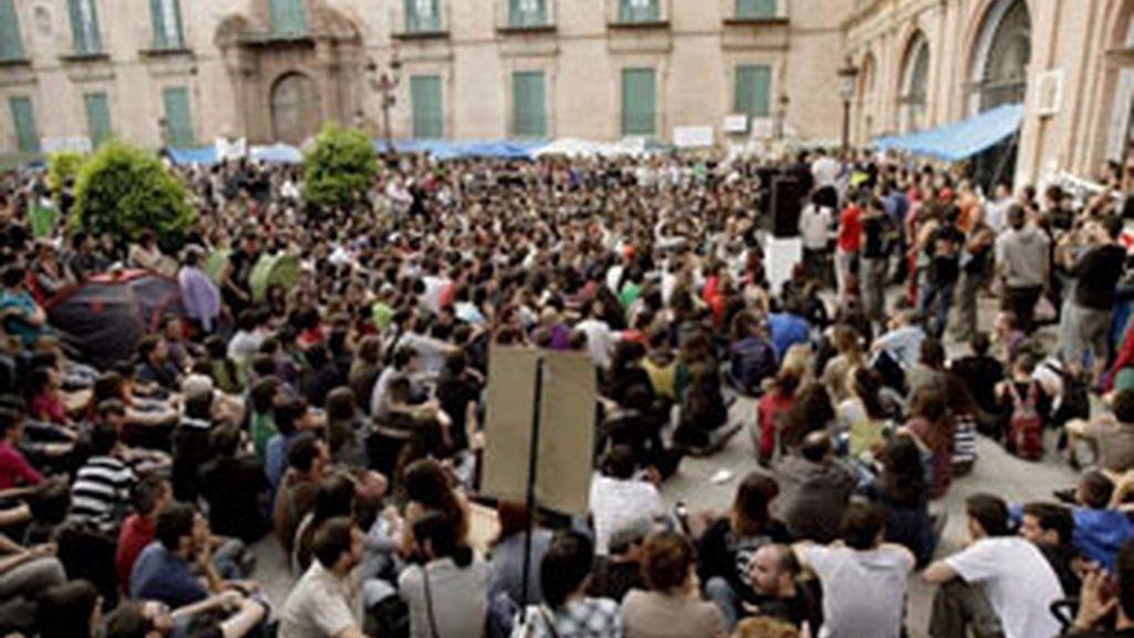 Los indignados de Murcia en una imagen de archivo.