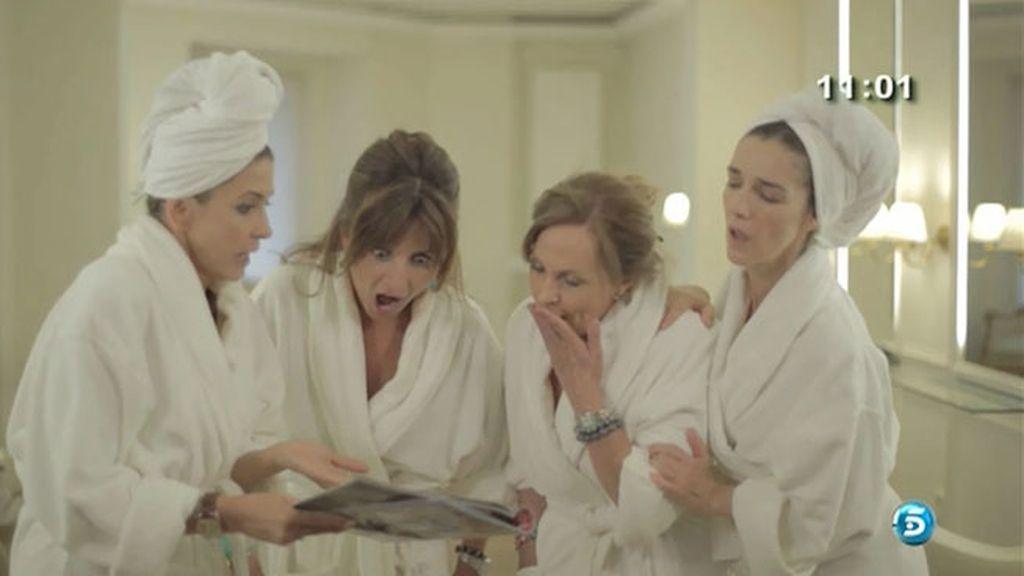 Paloma Barrientos, Marisa Martín Blázquez, Beatriz Cortázar, Paloma García Pelayo y Miguel Ángel Nicolas, cotilleos en la peluquería