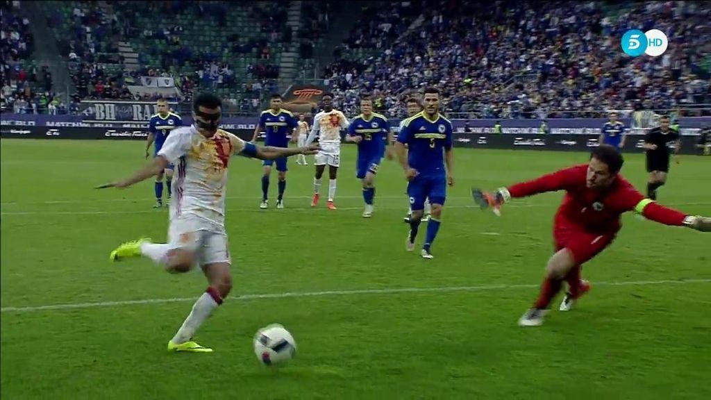 Pedro sentenció en el último minuto de partido para poner el 3-1 en el marcador