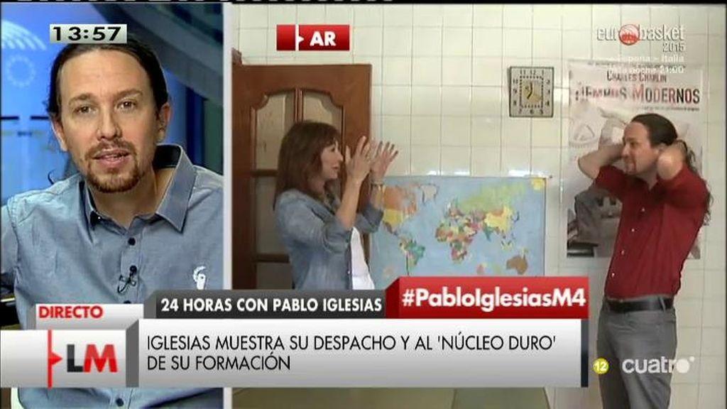 """Pablo Iglesias, sobre el vídeo de 'AR': """"Hacía falta que nos vean como somos"""""""