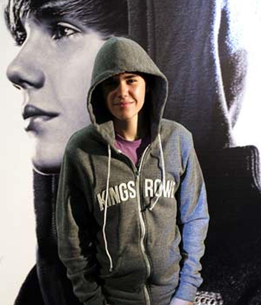 Justin Bieber, durante la presentación de su película 'Never Say Never', en Madrid. Foto: EFE