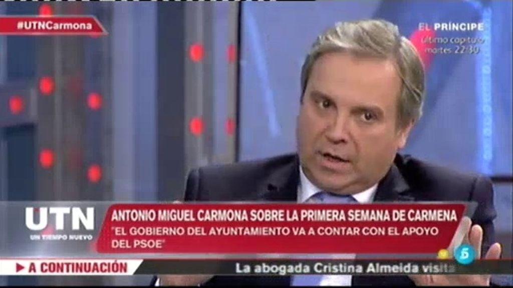 """Carmona: """"Podemos y otros partidos nuevos aportan mucho a la sociedad española"""""""