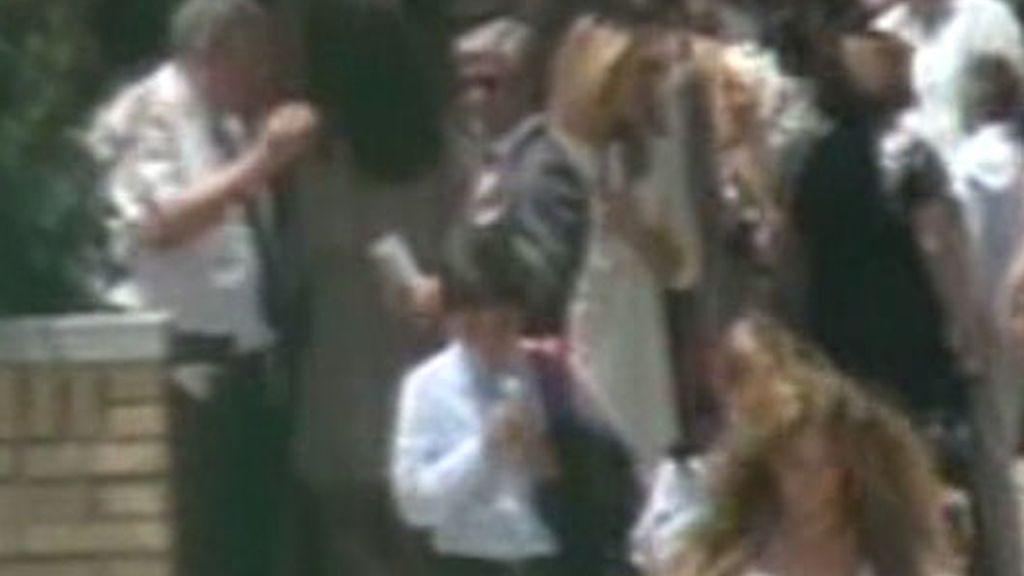 Espartaco y Patricia Rato, juntos en la comunión de su hijo Juan
