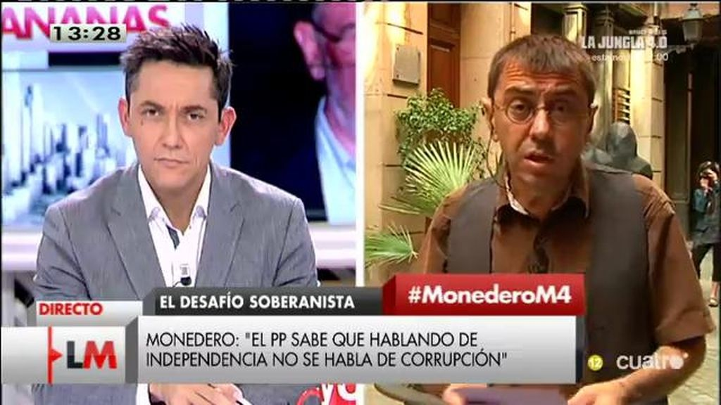 """Juan Carlos Monedero: """"El tema de la independencia tapa prácticamente todo"""""""