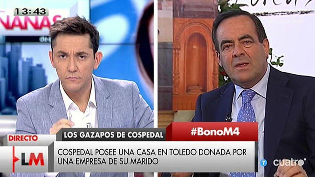 """Bono: """"No hace falta decir nada sobre Cospedal, basta escuchar lo que ella dice"""""""