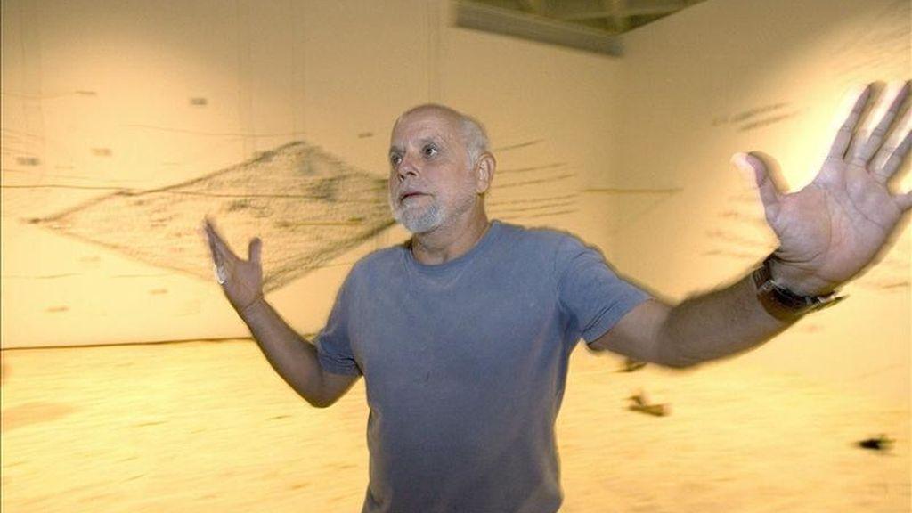 Fotografía de archivo tomada en Ciudad de México el 28/04/08 del artista portugués radicado en Brasil Artur Barrio, que ha sido galardonado hoy con el Premio Velázquez de las Artes Plásticas 2011, dotado con unos 180.000 dólares, según anunció la ministra de Cultura, Ángeles González-Sinde. EFE