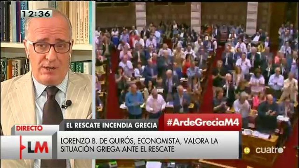 """Lorenzo Bernardo de Quirós: La clave es que hay un problema de credibilidad enorme, nadie se fía de los griegos"""""""