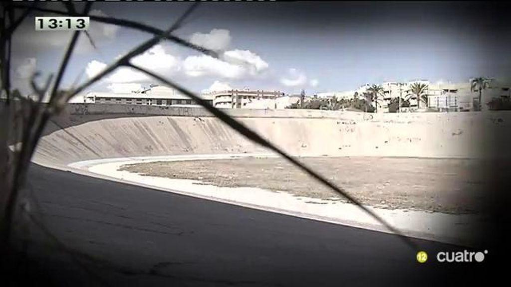 El velódromo de Novelda, abandonado sin terminar tras 30 años de obras