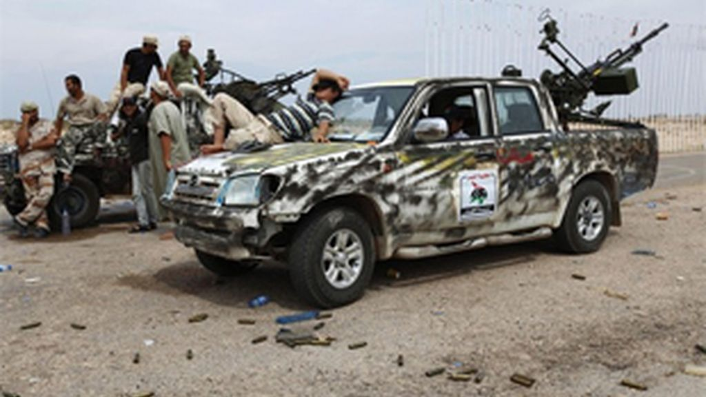 Los rebelden han asediado Sirte durante los últimos día. FOTO: Reuters