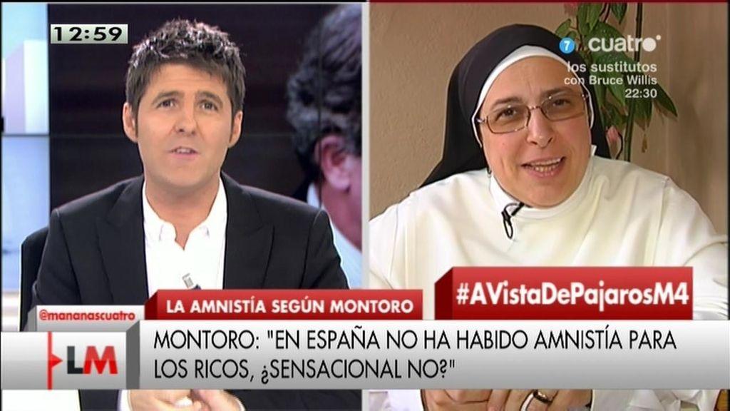 """Sor Lucía Caram: """"Montoro suelta siempre una risita en temas graves"""""""