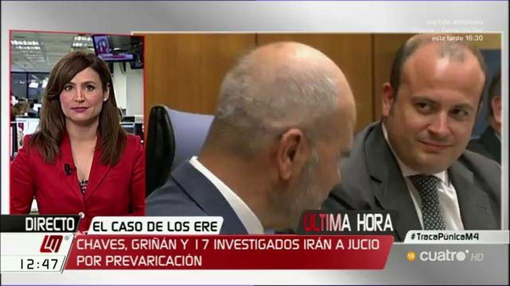 El juez abre juicio oral a Chaves y Griñán