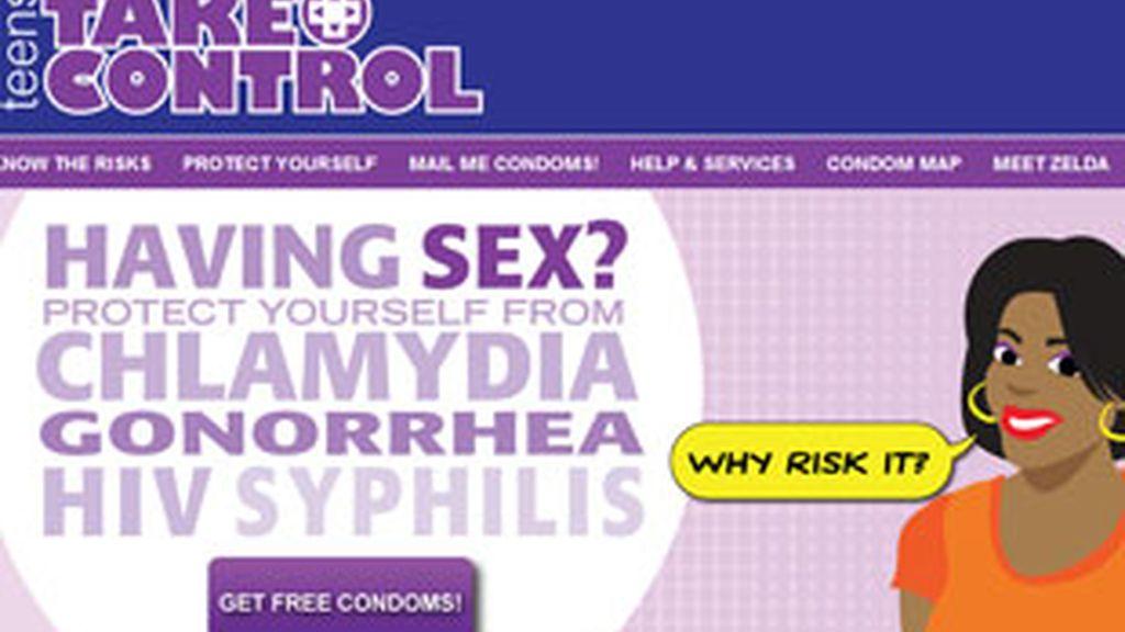 Los niños sólo deben rellenar un cuestionario para recibir los condones gratis en casa. Foto: TakeControlPhilly.org.