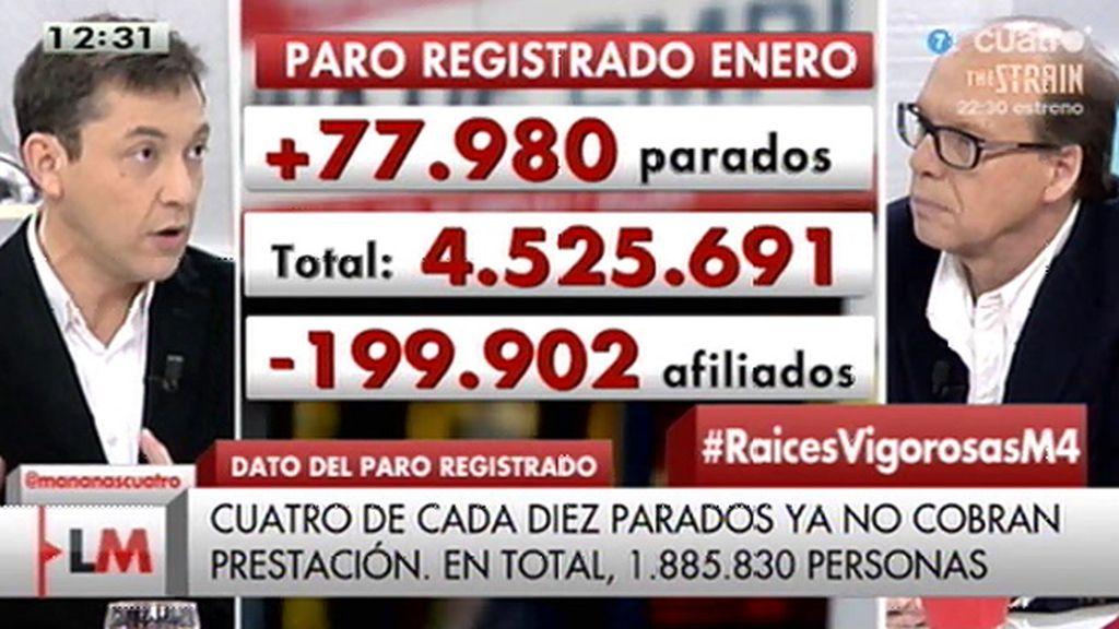 """J. González, sobre el paro: """"Se mantiene una tendencia, van a caer el número de parados por encima de 2014"""""""