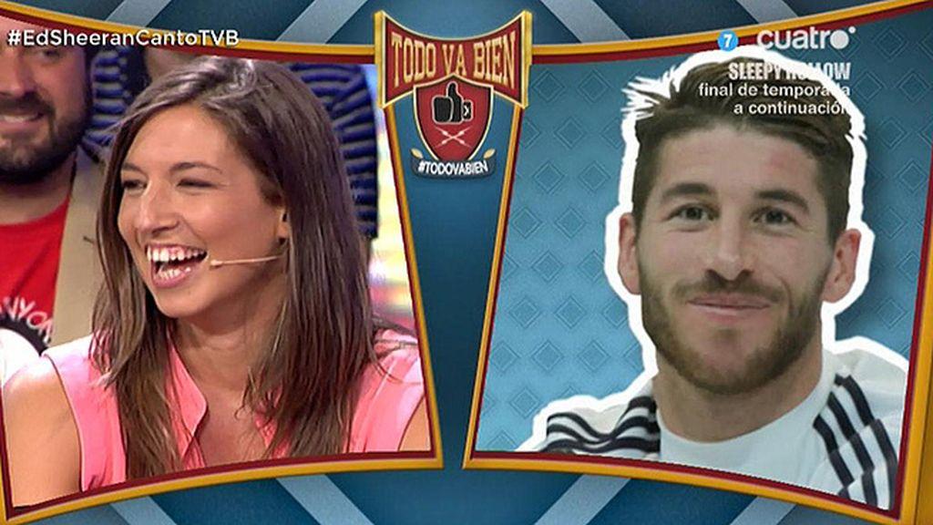 Nuestro Sergio Ramos felicita a las jugadoras de la selección de waterpolo