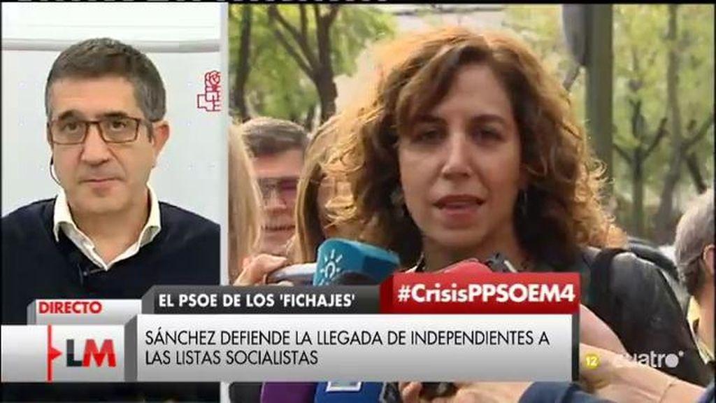 """Patxi López: """"La aceptación de Lozano es el reconocimiento de su disculpa"""""""
