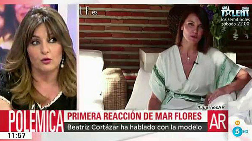 """Beatriz Cortázar ha hablado con Mar Flores: """"Quiere mantenerse lejos de los medios"""""""