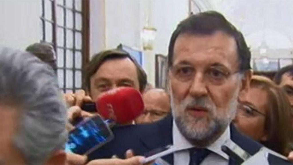 """Rajoy: """"Tomaremos las decisiones oportunas para presentarnos a las generales"""""""