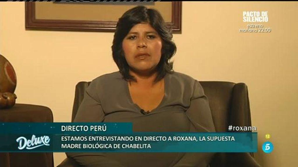 Roxana responde en directo desde Perú a las duras declaraciones de Chabelita