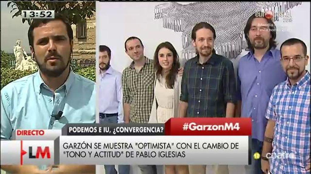 """A. Garzón: """"No está puesta en tela de juicio la supervivencia de IU"""""""