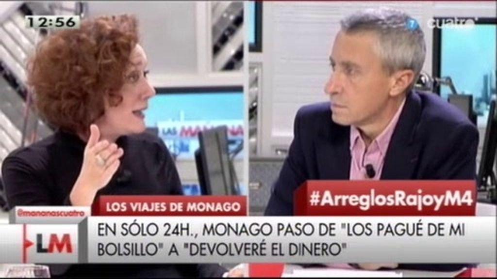 """Cristina Fallarás: """"El PP es un circo y ellos son los payasos"""""""