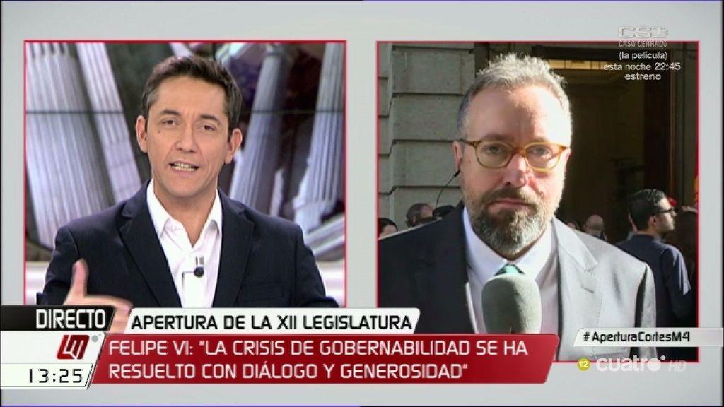 """J.C. Girauta (Ciudadanos): """"Cada cual es libre de sus actos y la gente que lo valore"""""""