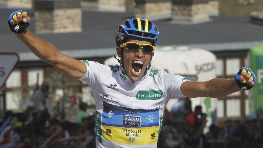 Alberto Contador (Saxobank) se proclama vencedor en la decimoséptima etapa de la 67 edición de la Vuelta a España