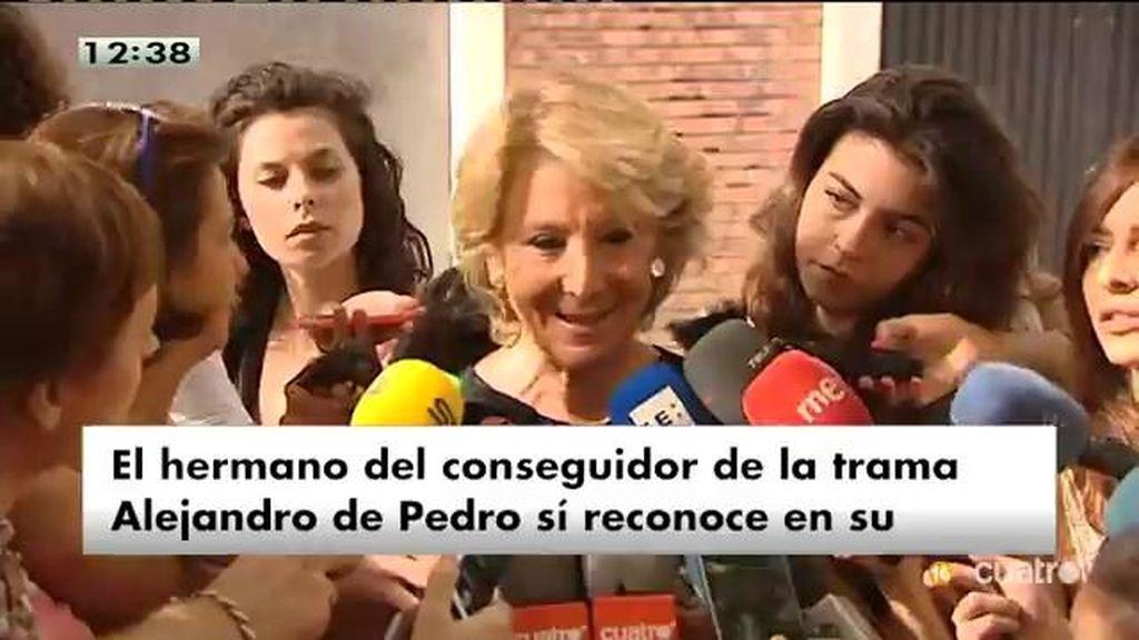 """Aguirre niega que De Pedro hiciera trabajos para ella: """"A otra cosa mariposa"""""""
