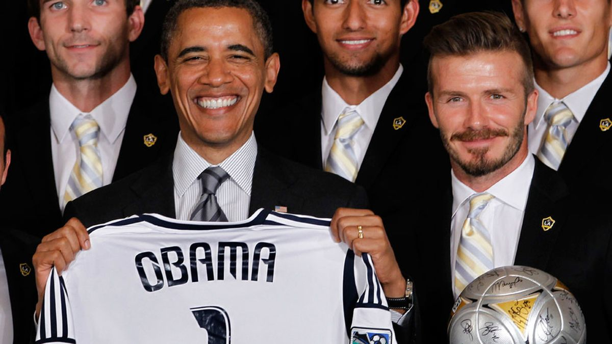 Obama posa con Beckham
