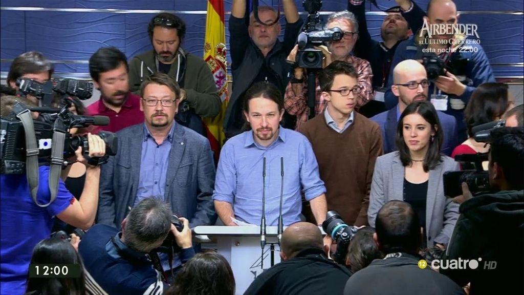 """P. Iglesias: """"A Podemos le dijeron que no"""""""