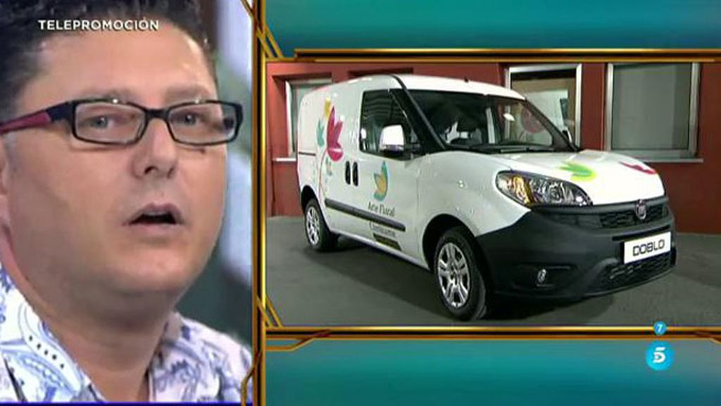 'Cámbaime Premium' sorprende a Antonio con una nueva furgoneta para su negocio