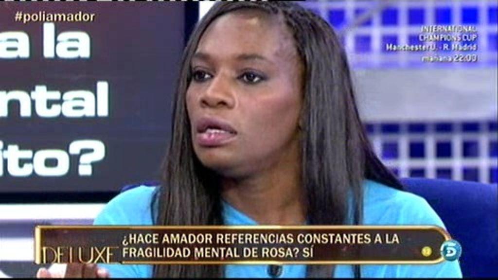 """Carolina: """"Amador no va a un programa porque no quiere hacer daño a Rosa"""""""