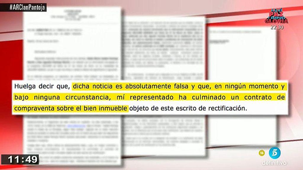 La abogada de Isabel Pantoja niega que se vaya a embargar el chalet de La Moraleja