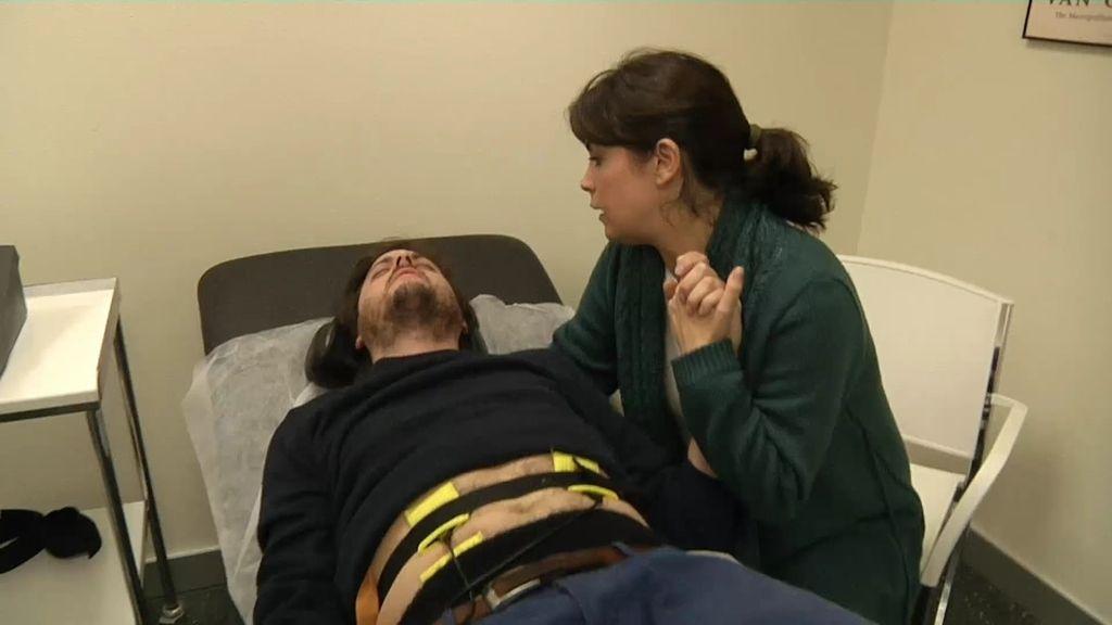 """El novio de Samanta, en la piel de una embarazada: """"¡No puedo, quiero la epidural!"""""""