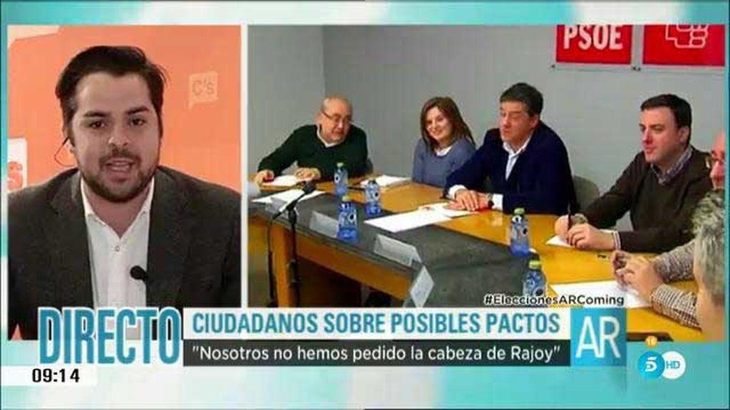 """Fernando de Páramo: """"Si Podemos entra en el Gobierno, se rompería el acuerdo que tenemos con el PSOE"""""""