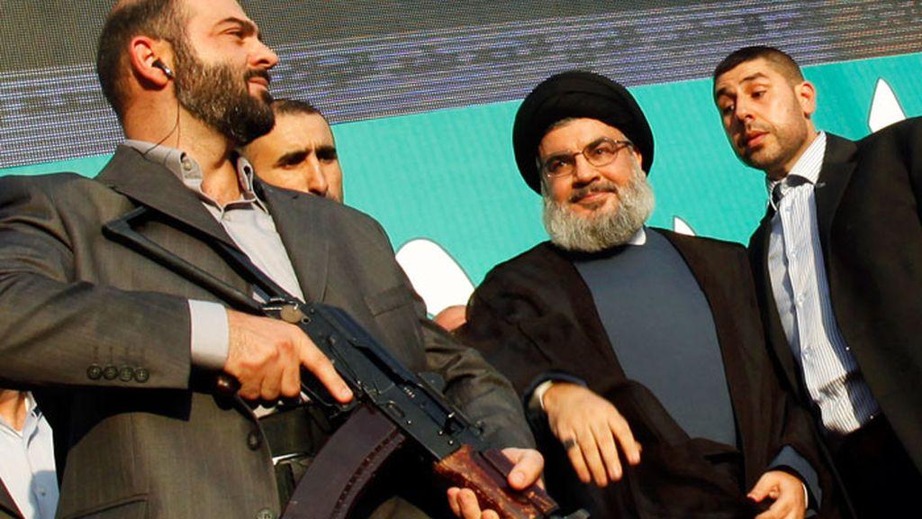 El líder de Hezbolá participa en una de las manifestaciones contra la película sobre Mahoma