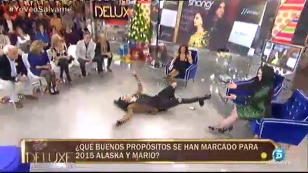 Mario Vaquerizo hace la croqueta en 'Sálvame Deluxe'