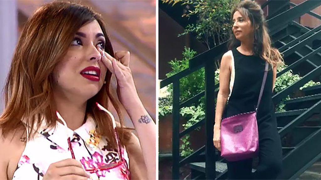 ¡Sueño cumplido!: María Patiño completa su look con el bolso de Cristina